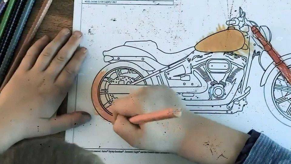 Moto - News: Moto da colorare, il passatempo utile per grandi e bambini