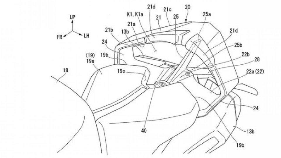 Moto - News: Honda brevetta il codone aerodinamico ad alte prestazioni