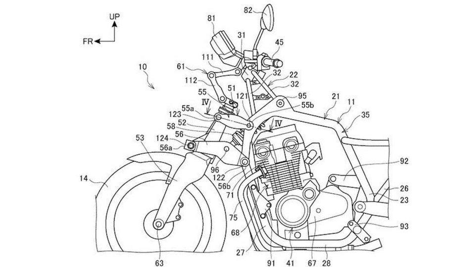 Moto - News: Honda: brevettata una nuova forcella per CB1100 e Super Cub 125