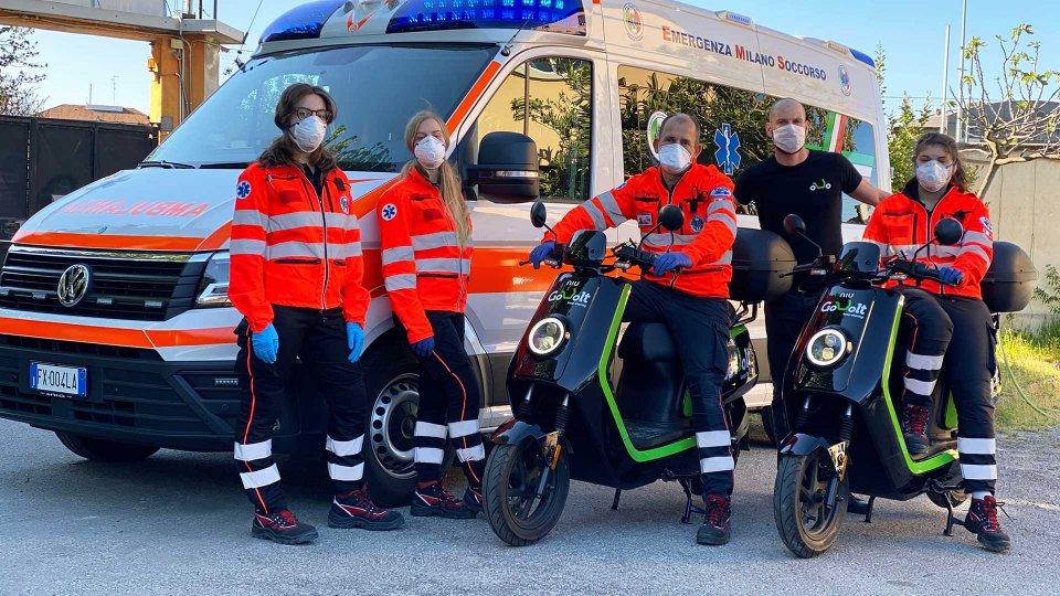 Moto - News: Coronavirus: a Milano scooter gratis per medici e personale sanitario