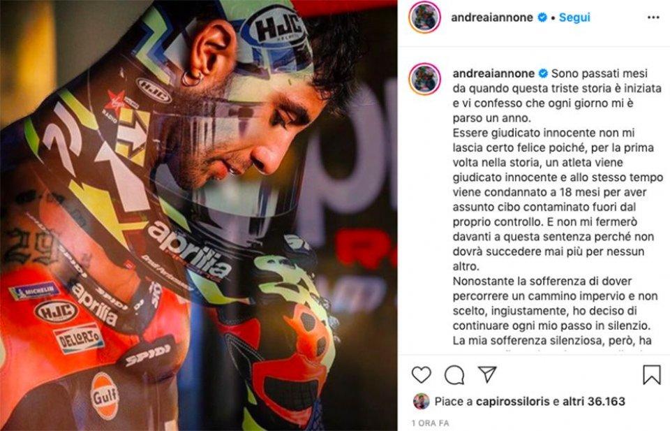 """MotoGP: Iannone: """"Farò in modo che quanto sto passando io non accada ad altri"""""""