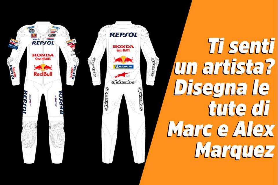 MotoGP: Ti senti artista? Disegna le tute Honda di Marc e Alex Marquez
