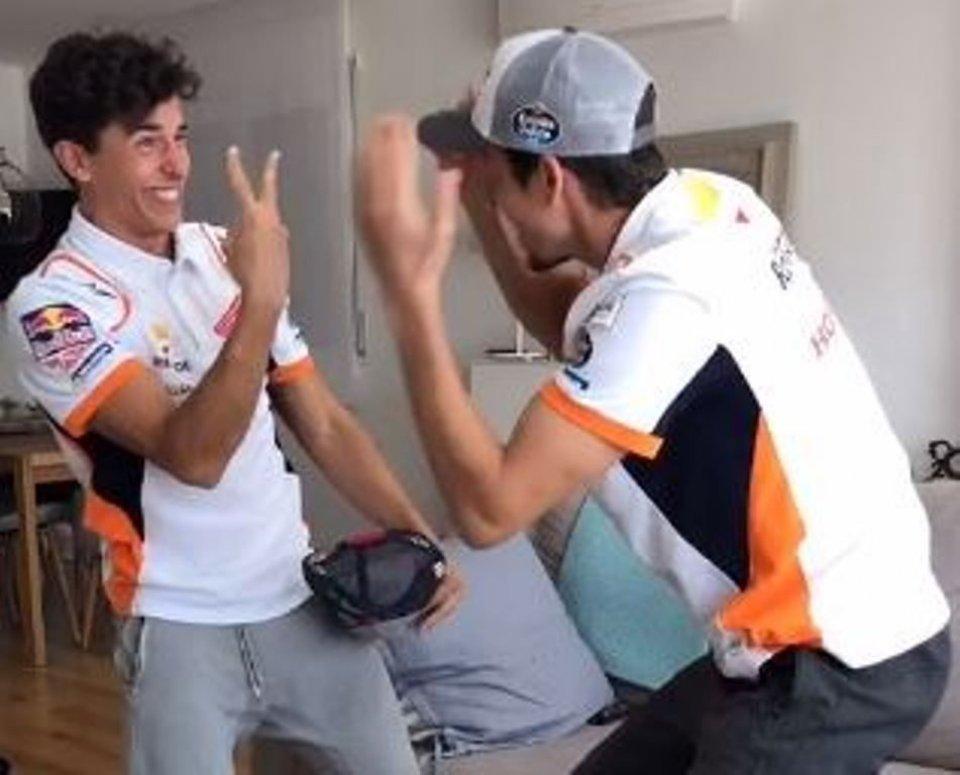MotoGP: I festeggiamenti di casa Marquez post virtual race... su Tik Tok