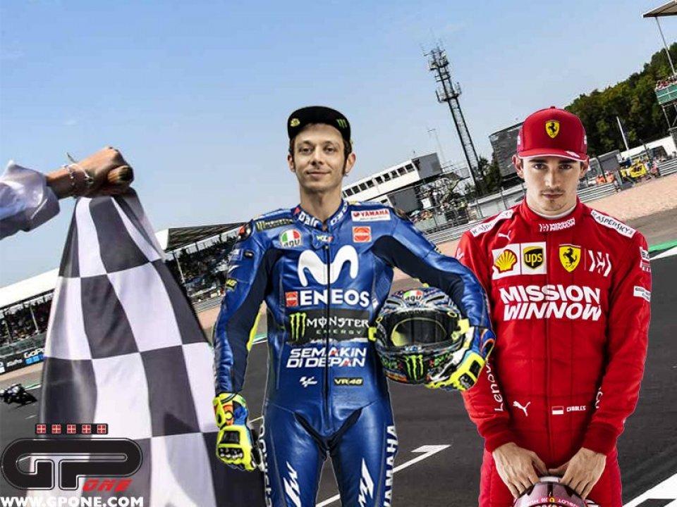 MotoGP: Rossi sfida Leclerc: domani la All Stars Racing Night su Sky