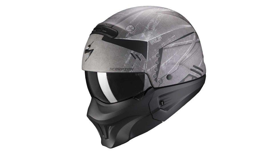 Moto - News: Exo Combat Evo, il casco jet aggressivo di Scorpion Sports