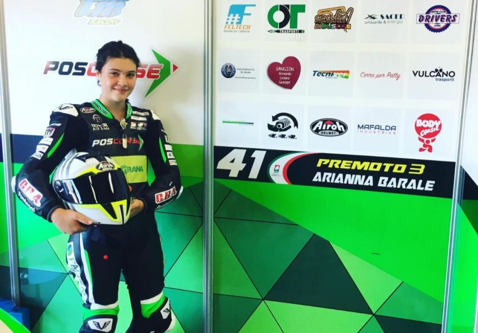 Moto3: CIV Arianna Barale: frattura al bacino dopo la caduta al Mugello