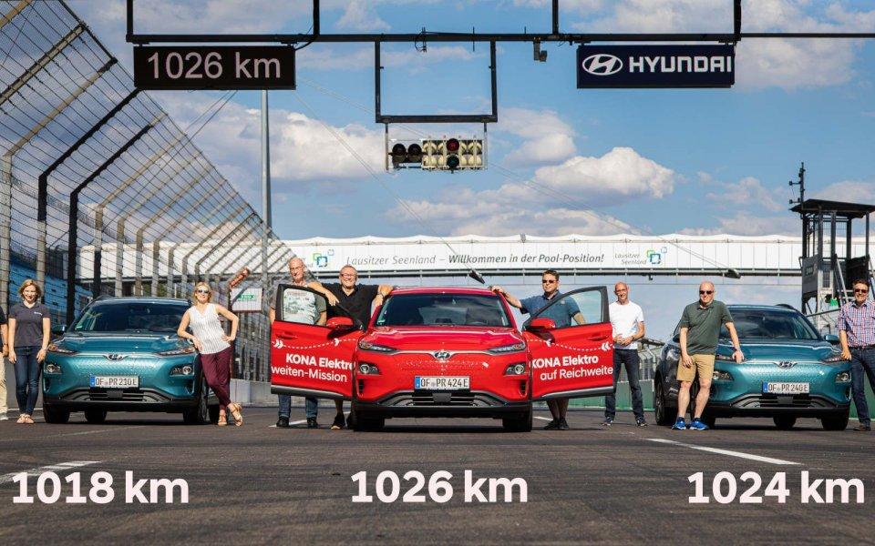 Auto - News: Record elettrico: 1.026 km con una ricarica per la Hyundai Kona