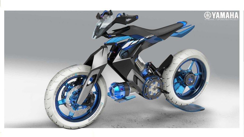 Moto - News: Yamaha XT 500 2025: il concept alimentato ad acqua