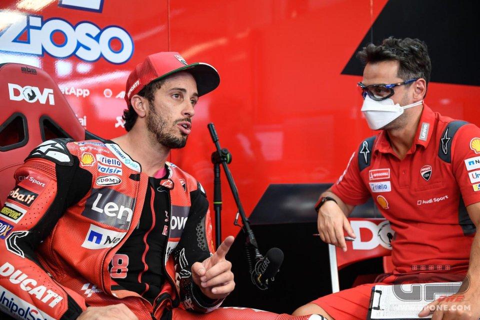 """MotoGP: Dovizioso: """"Non ci sto capendo niente, qui dovevamo spaccare tutto"""""""