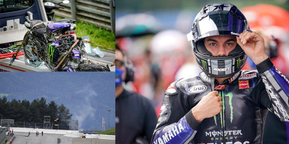 """MotoGP: Vinales fa mea culpa: """"L'incidente? Tutta colpa mia, dovevo fermarmi"""""""