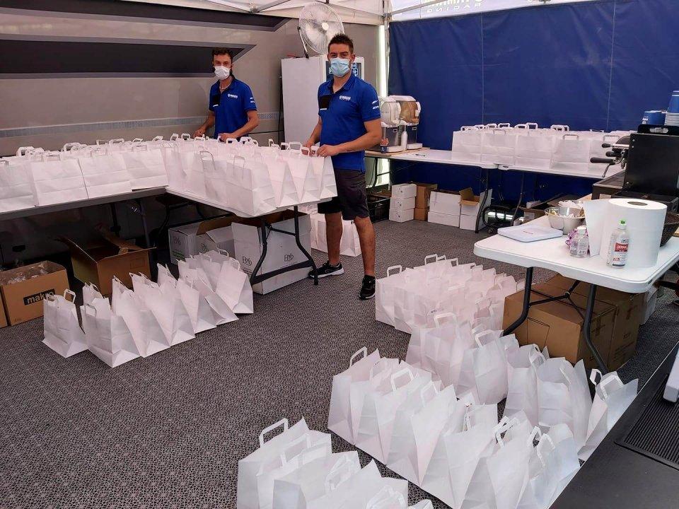 SBK: Jerez: il dietro le quinte tra lunch box, caldo, tende e mascherine