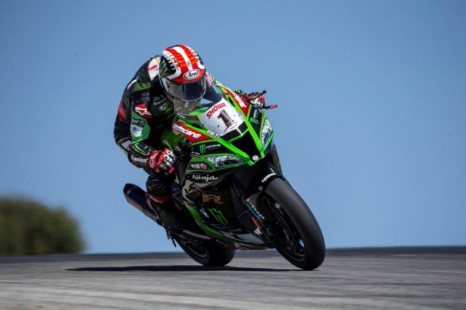 SBK: Rea e la Kawasaki all'attacco nei test di Aragon, 2° Haslam