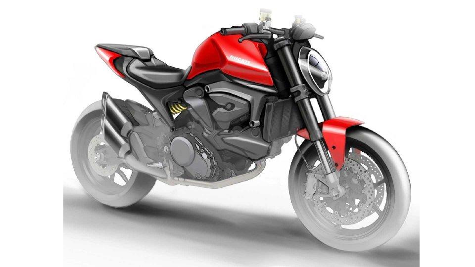 Moto - News: Ducati Monster 821: il render rubato conferma l'addio al traliccio