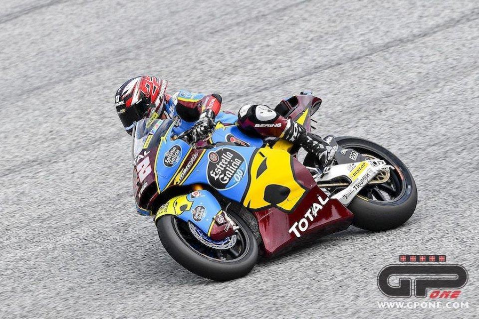 Moto2: Misano, FP1: Lowes al comando, ma domenica partirà dalla pit lane
