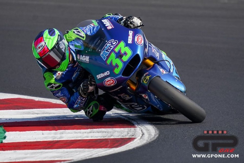 Moto2: FP3: Record e 1° posto per Bastianini a Misano, 4° Marini
