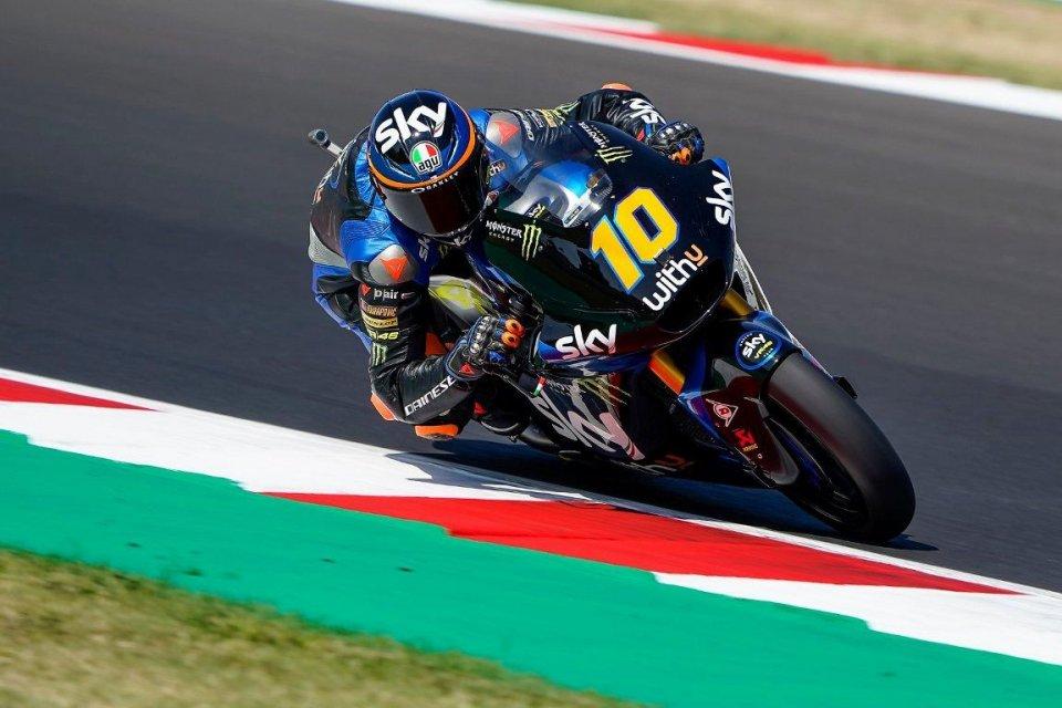 Moto2: A Misano è Grande Italia: 1° Marini, 2° Bezzecchi, 3° Bastianini