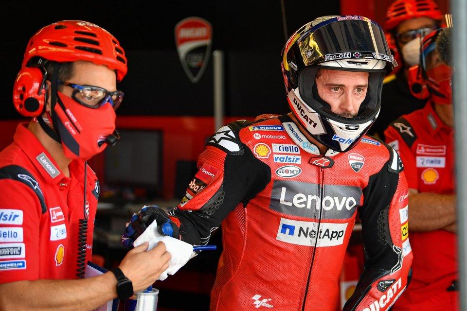 """MotoGP: Dovizioso: """"Per andare forte bisognava rischiare, non ho voluto farlo"""""""