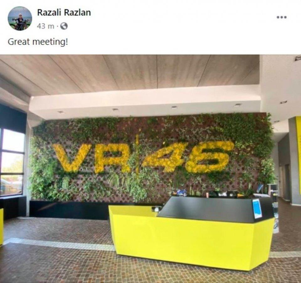 MotoGP: Razlan in visita alla VR46: ultimi dettagli per la firma Rossi-Petronas