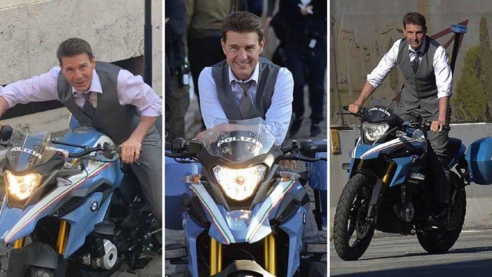 Moto - News: Mission Impossible 7: Tom Cruise guida la BMW G 310 GS della Polizia