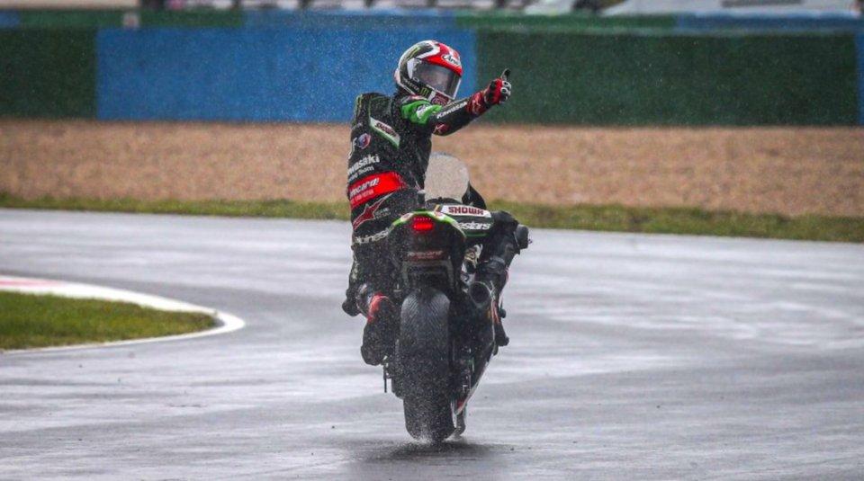SBK: Doppietta Kawasaki in Superpole Race, Rea ad un passo dal titolo