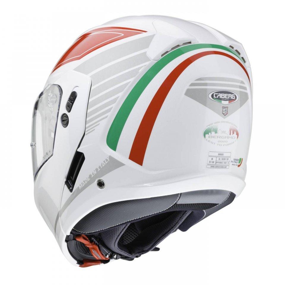 Moto - News: Caberg Horus Tribute: iniziativa benefica per Bergamo, segnata dal Covid
