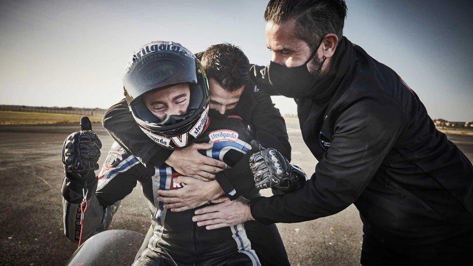Moto - News: Max Biaggi, record di velocità sulla moto elettrica Voxan Wattman