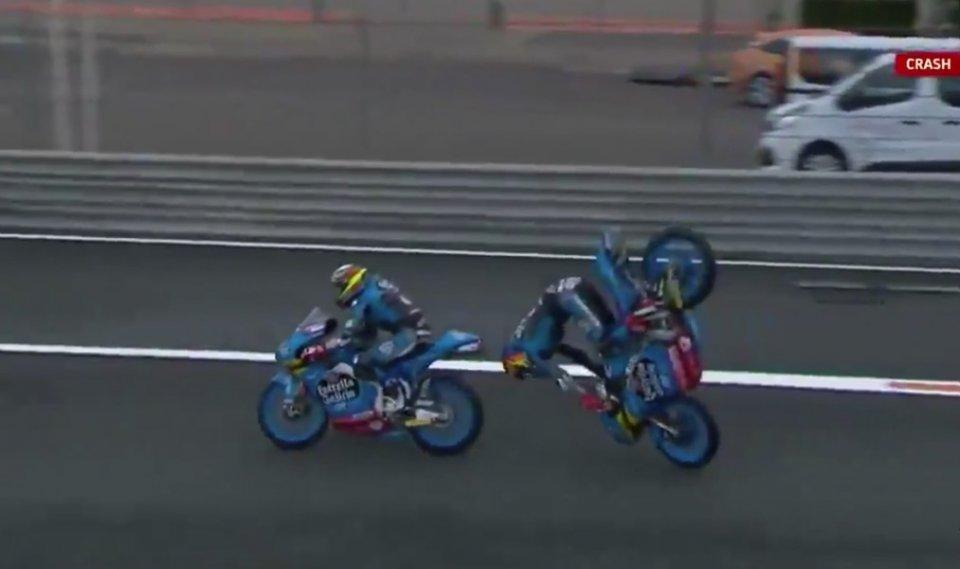 Moto3: Paura per Yamanaka: brutta cadute nelle FP2 del GP d'Europa