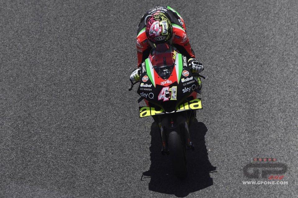 MotoGP: L'Aprilia RS-GP 2021 debutta a Jerez: nuovi telai e motore