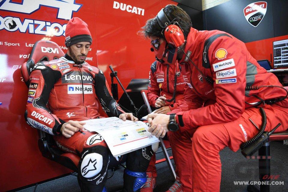 """MotoGP: Dovizioso: """"Quando ho visto Marquez sulla tabella ho detto 'no, cavolo'"""""""