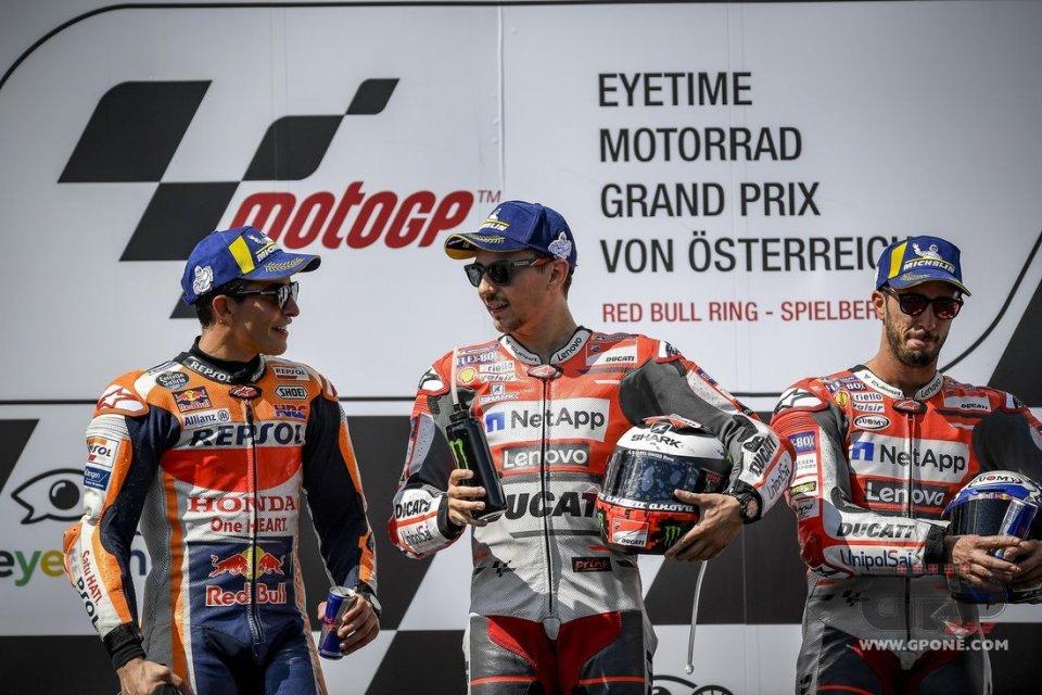 """MotoGP: Lorenzo: """"Dovizioso aveva un'occasione d'oro, si è spento mentalmente"""""""