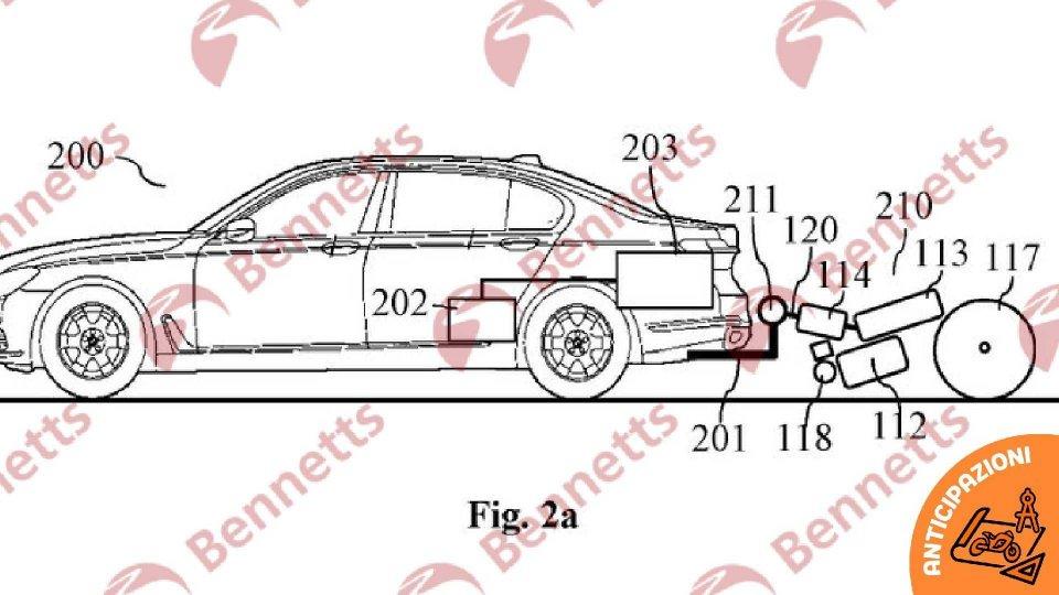 Moto - News: BMW brevetta la moto generatore di energia a traino
