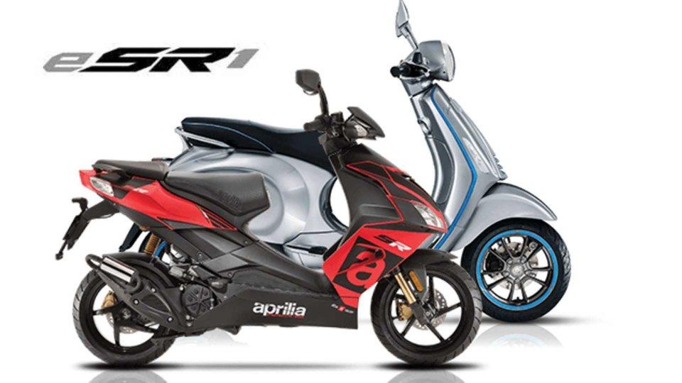 Moto - News: Aprilia e-SR1, lo scooter elettrico del futuro di Noale