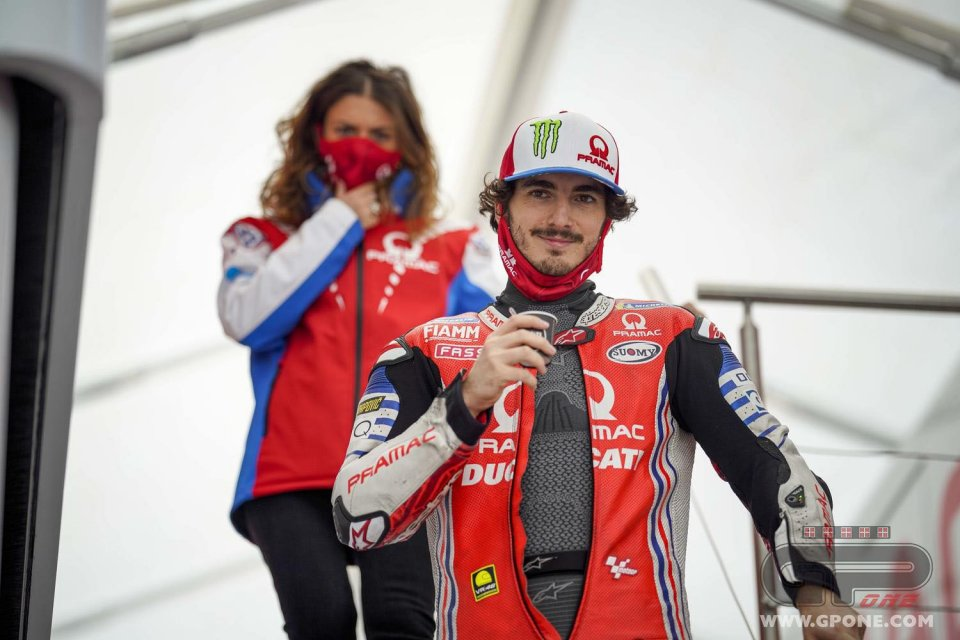 """MotoGP: Bagnaia: """"In Moto2 Luca Marini must go out on the track to win"""""""