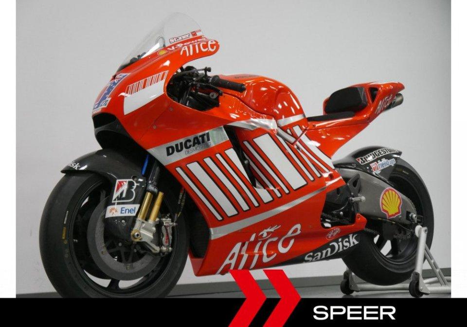 MotoGP: Idea regalo: in vendita la Ducati 2008 di Stoner a 449.000 euro
