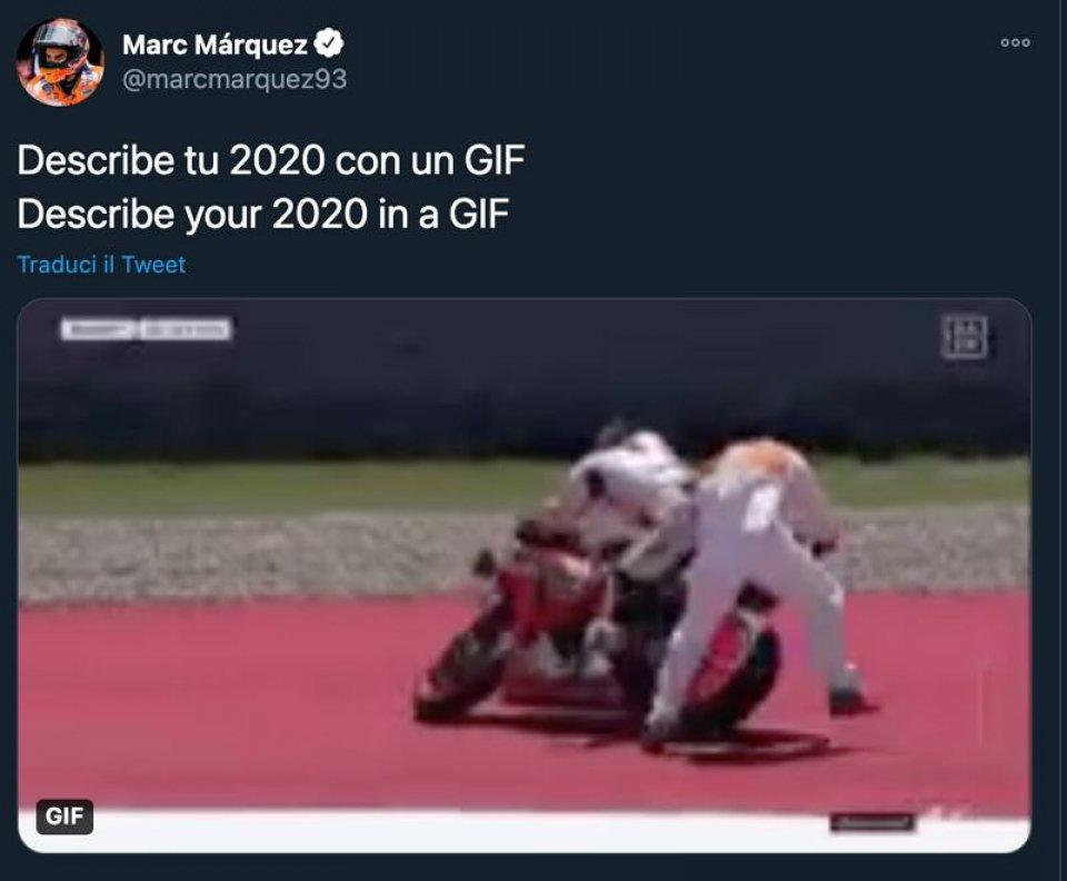 MotoGP: Marc Marquez jokes about his 2020: the summary is a comical crash