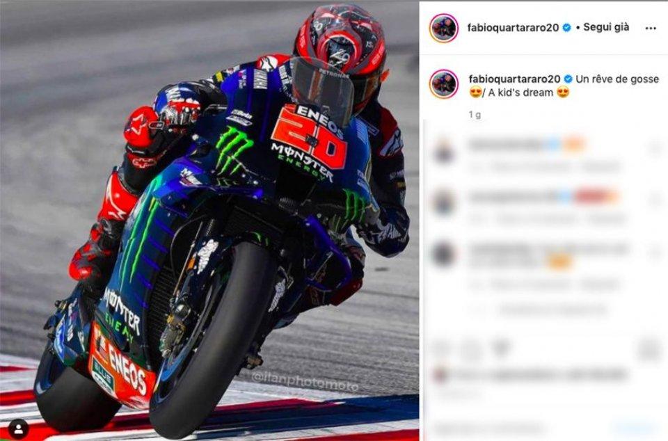 "MotoGP: Fabio Quartararo on Valentino Rossi's bike: ""A childhood dream"""