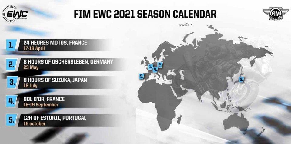 SBK: Five races in 2021 FIM EWC Calendar: season start at Le Mans
