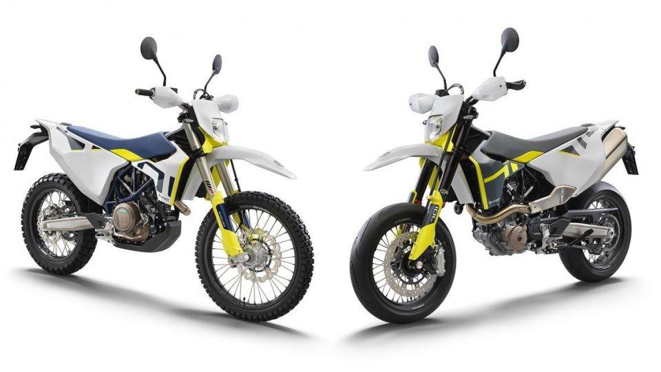 Moto - News: Husqvarna 701: Supermoto ed Enduro, le monocilindriche dalla doppia anima