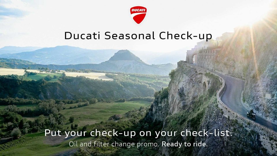 Moto - News: Ducati Seasonal Check Up, manutenzione vantaggiosa per i Ducatisti