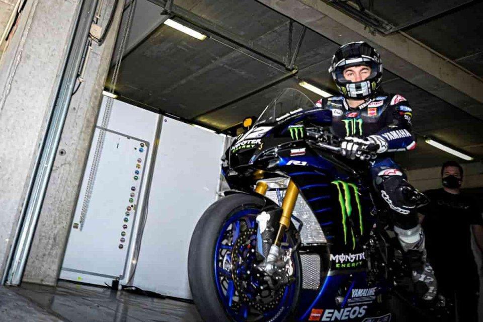 MotoGP: Vinales con la Yamaha R1 ai test di Jerez della Superbike