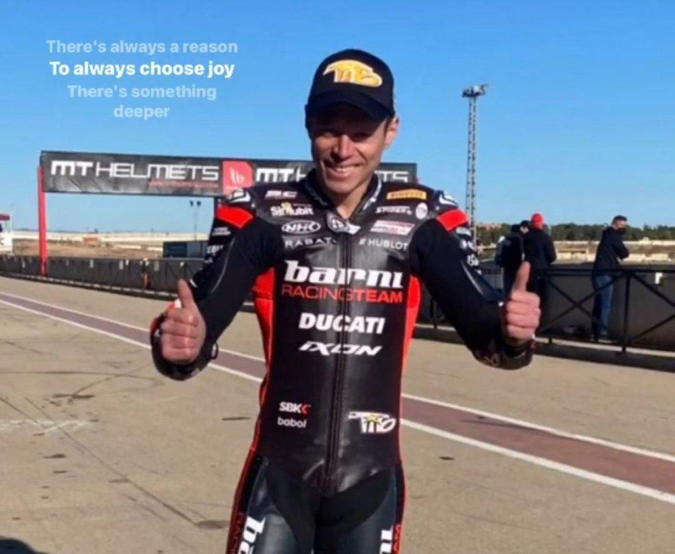 SBK: Cartagena: Tito Rabat in pista con la Ducati V4S