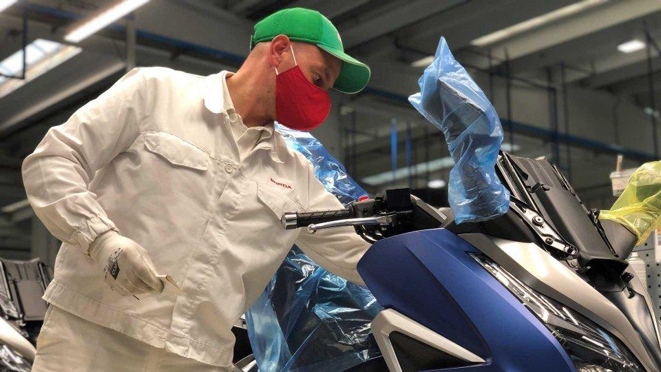 Moto - News: Honda: ad Atessa non arrivano forniture, stop alla produzione