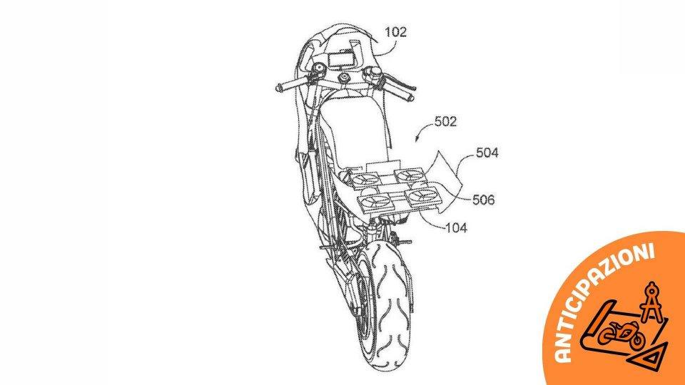 Moto - News: Honda, un drone nel codino della moto elettrica