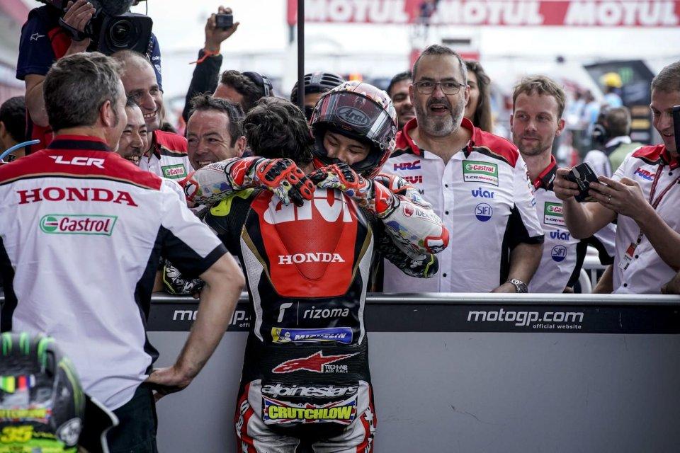 """MotoGP: Nakagami: """"Crutchlow si è preso cura di me, posso solo ringraziarlo"""""""