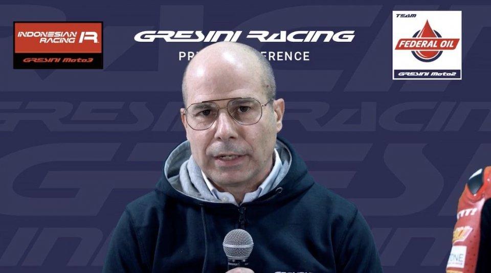"MotoGP: Merlini: ""Gresini lotta, noi lavoriamo per il futuro in MotoGP"""