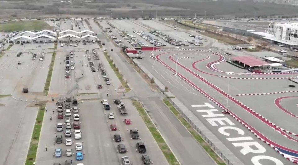 MotoGP: Il circuito di Austin trasformato in un centro di vaccinazione Covid-19