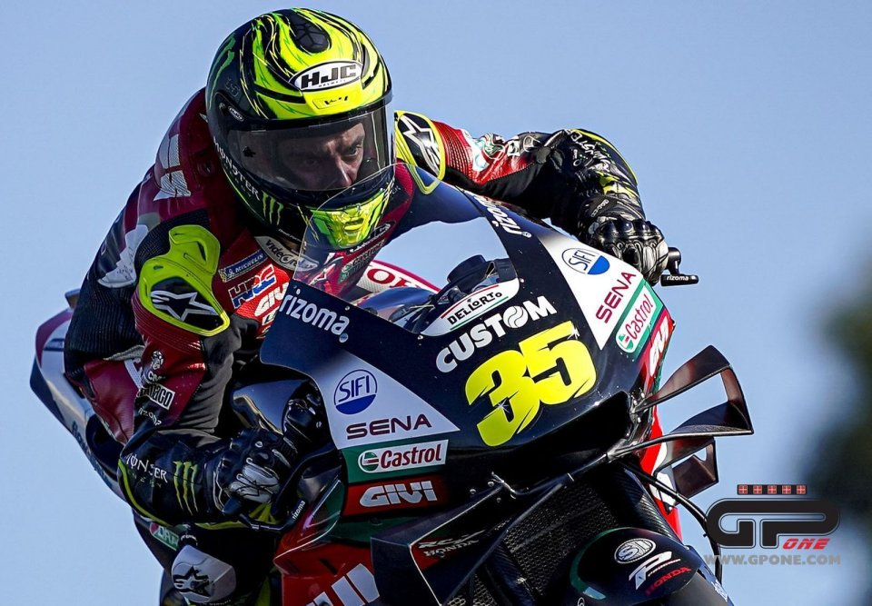 MotoGP: Cal Crutchlow 'eyes wide open': on the track he doesn't blink for three minutes!