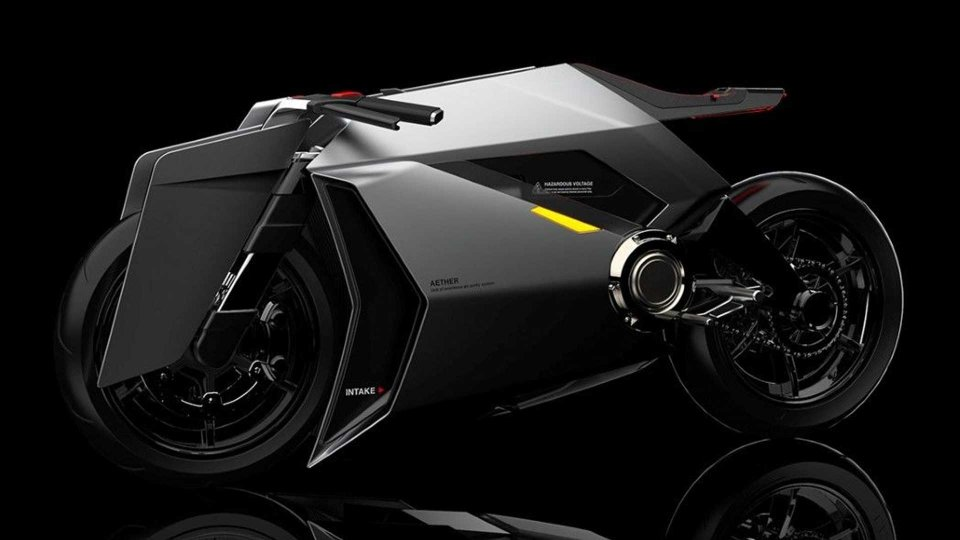 Moto - News: Aether Concept, la moto elettrica che purifica l'aria