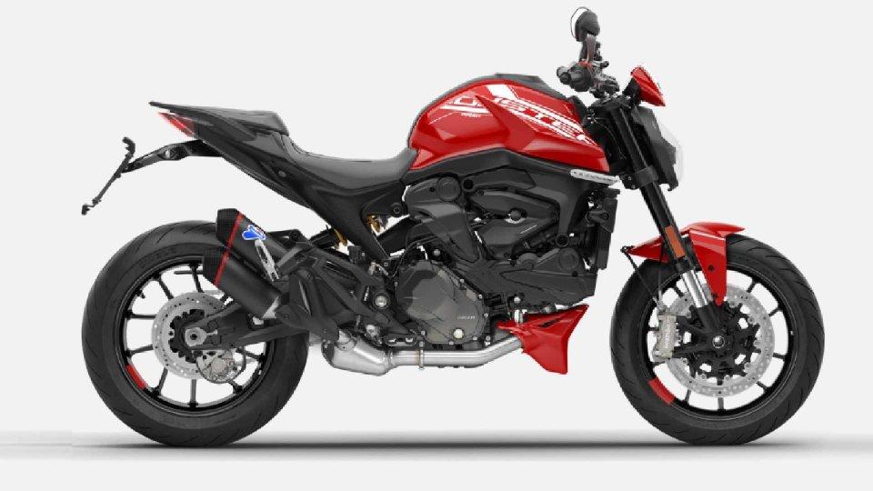 Moto - News: Ducati Monster 2021: ecco la nuova linea di accessori