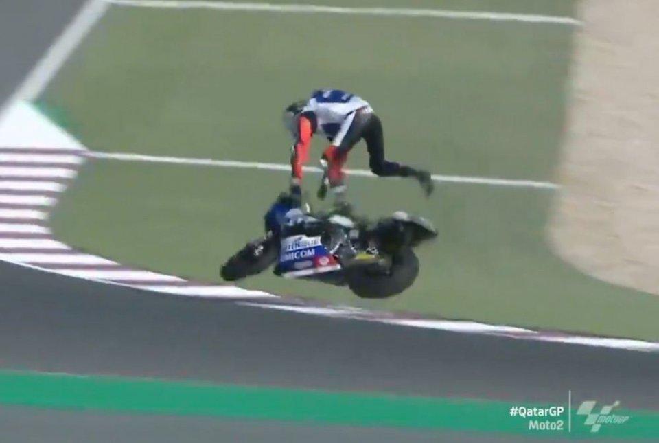 Moto2: Doppia frattura al polso per Baltus: GP del Qatar già finito per lui